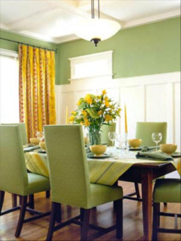 historic-minimalist-green-dining-room-decor-ideas