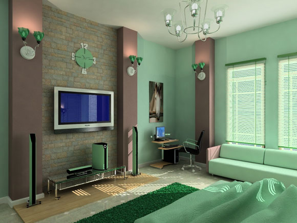minimalist-luxury-green-bedroom-interior-dcor-photo