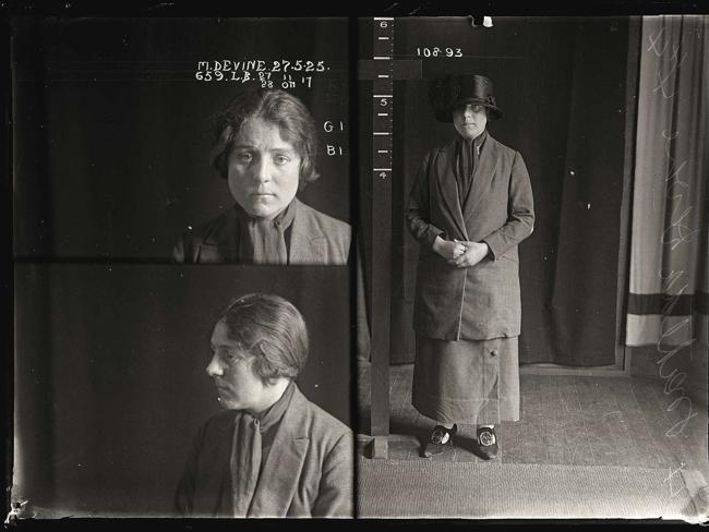 Matilda Devine, criminal record number 659LB, 27 May 1925. State Reformatory for Women, Long Bay, NSW
