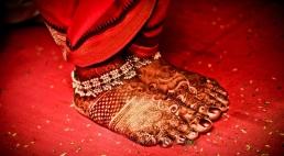 Bride Feet Decorated With Mehndi, Mumbai Wedding