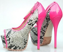 Free-Shipping-pink-with-snake-workmanship-high-heel-pumps-girls-outside-designer-dress-shoes